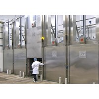 Horno industriales con puertas autom ticas horno de for Puertas para cocinas industriales